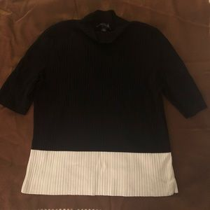 Ann Taylor Black/white turtle neck